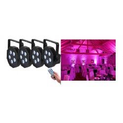 Pack de 4 Projecteurs LED